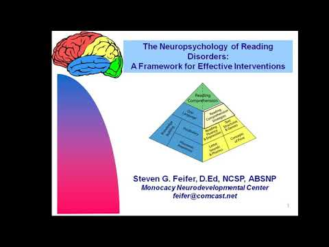 The Neuropsychology of Reading Disorders: A Framework for