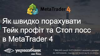 Як порахувати вартість T/P та S/L в MetaTrader 4. Форекс / Forex для початківців з АБ УКРГАЗБАНК