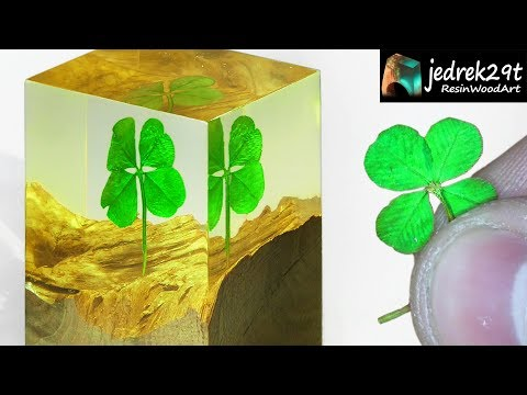 Four-leaf Clover in Epoxy Resin. DIY a Simple way / ART RESIN