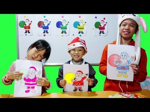 Hunter Kids Go To School Learn Colors Glitter Santa Claus| Classroom Funny Nursery Rhymes