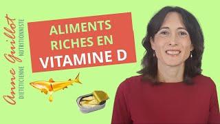 Aliments riches en vitamine D (D2 et D3)