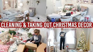 CLEAN WITH ME & TAKING OUT CHRISTMAS DECOR | CLEANING MOTIVATION FOR CHRISTMAS DECORATING 2019