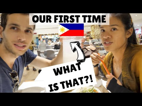 AMERICAN'S FIRST TIME IN THE PHILIPPINES AS A COUPLE! | Filipino food & insane Filipino mall