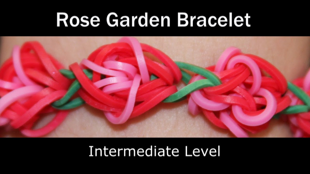 garden rose bracelet youtube hibiscus loom rainbow watch