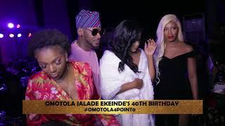 2baba Tiwa Dangote others grace Omotolas 40th birthday