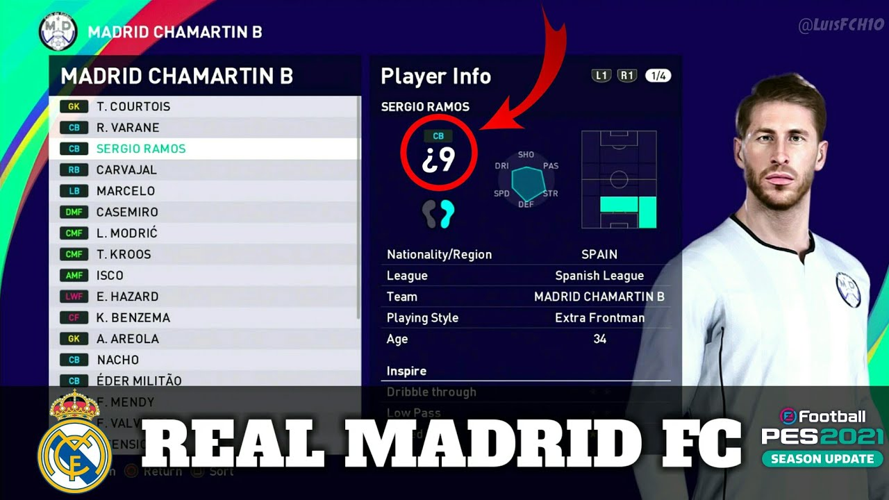 PES 2021 | REAL MADRID FC | NEW FACES & STATS | LuisFCH ...
