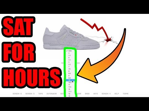 These YEEZYS SAT For HOURS ! + NEW ADIDAS SPLASH PAGE ( GREY POWERPHASE RESALE ? )