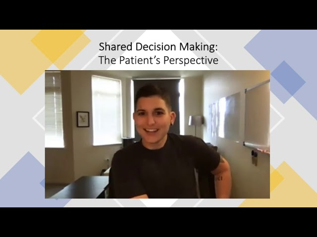 Shared Decision Making 3: In Conversation: Cath, Thatcher and David give the patient's perspective.