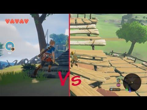 The Legend Zelda BOTW VS OceanHorn 2 | Nintendo Switch VS Mobile Game |