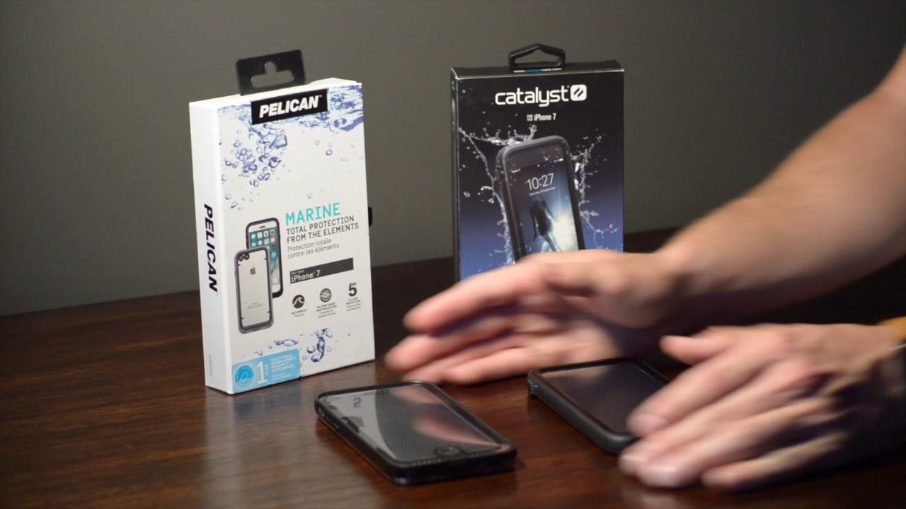 low priced 952e0 4d313 IPhone 7 Pelican Marine Vs. IPhone 7 Catalyst Waterproof case.