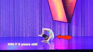 6 YEAR OLD AVA PERFORMS CRAZY FLEXIBLE DANCE MOVES IN HER FIRST SOLO!!!