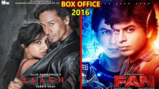 Baaghi vs Fan 2016 Movie Budget, Box Office Collection, Verdict and Facts   Shahrukh Khan