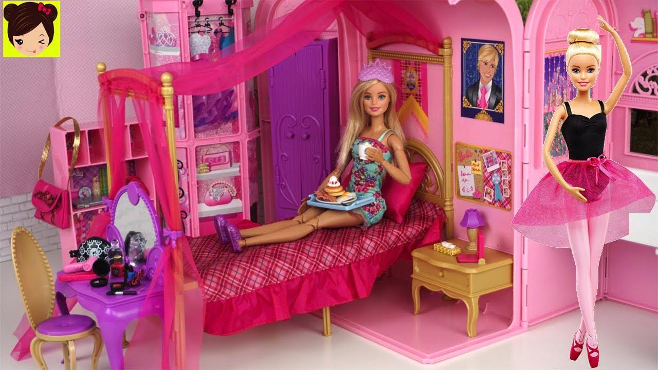 Download Rutina de Mañana con Barbie Bailarina de Ballet en Su Dormitorio de Princesa