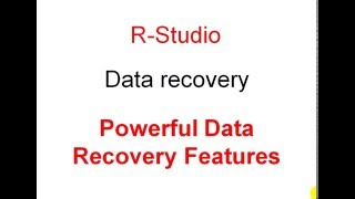 R-Studio - Data recovery - Powerful Data Recovery Features.