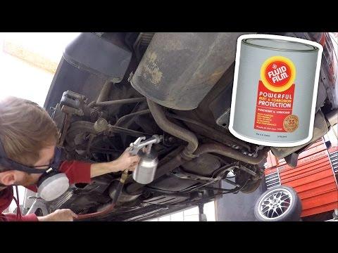 Undercoating a vehicle with Fluid Film & spray gun