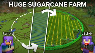 Making a Bigger Than Ever Needed Sugarcane Farm in Minecraft
