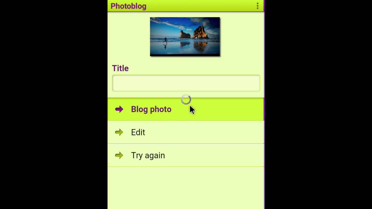 How to make photoblog on qeep