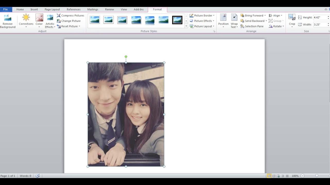 Cara Cetak Foto Dengan Microsoft Word Youtube