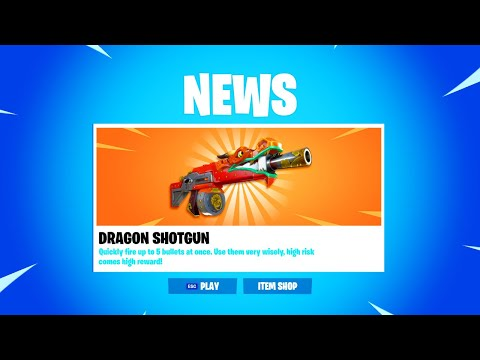 NEW DRAGON SHOTGUN In Fortnite! (UPDATE)