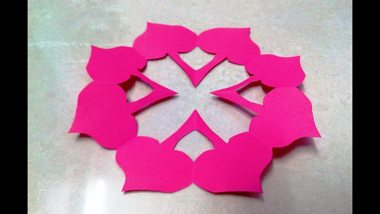 How to make kirigami paper cutting patterns and templates for How to make a paper design
