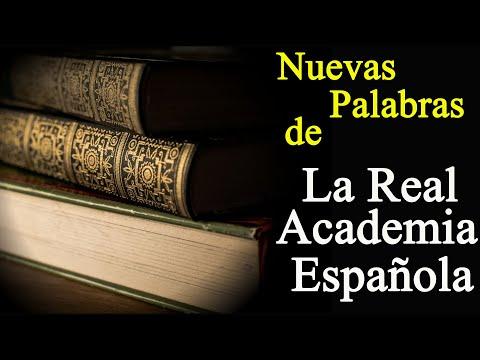 Nuevas palabras de la Real Academia Española.