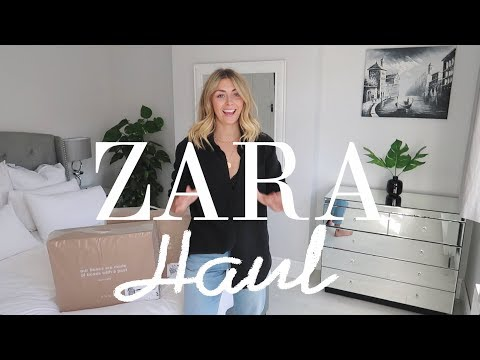 HUGE Transitional Zara Unboxing Try-On Haul   August 2017   Emma Hill