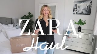 HUGE Transitional Zara Unboxing Try-On Haul | August 2017 | Emma Hill