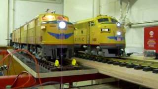 G Scale Trains Sound Union Pacific F-3 vs. FA-1