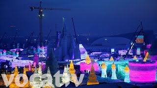 Take A Look At This Ice Sculpture City In 360 thumbnail