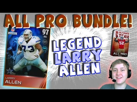 """I PULLED LARRY ALLEN!!! MY FIRST """"MUT 15 LEGEND PULL"""" -- """"MUT 15 ALL PRO BUNDLE OPENING"""""""