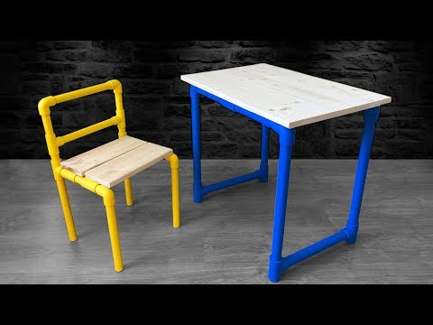 How to Make a PVC TABLE and CHAIR | Homemade Table & Chair Desktop