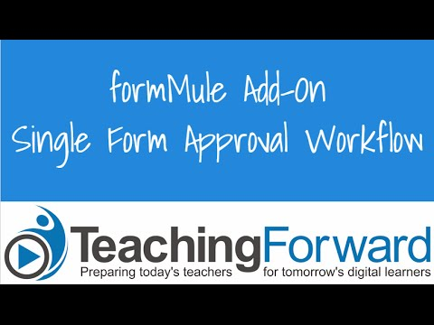 formMule Single Form Request + Approval Workflow