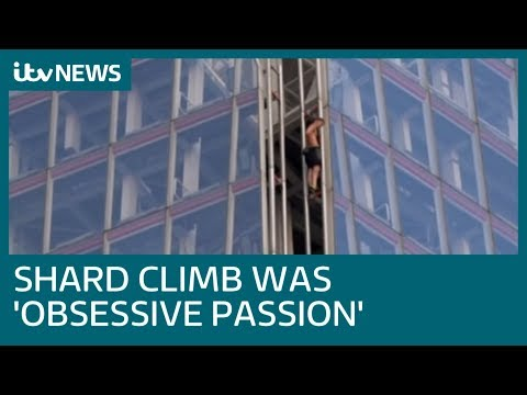 George King: Free climber who scaled The Shard completes 'obsessive passion' | ITV News