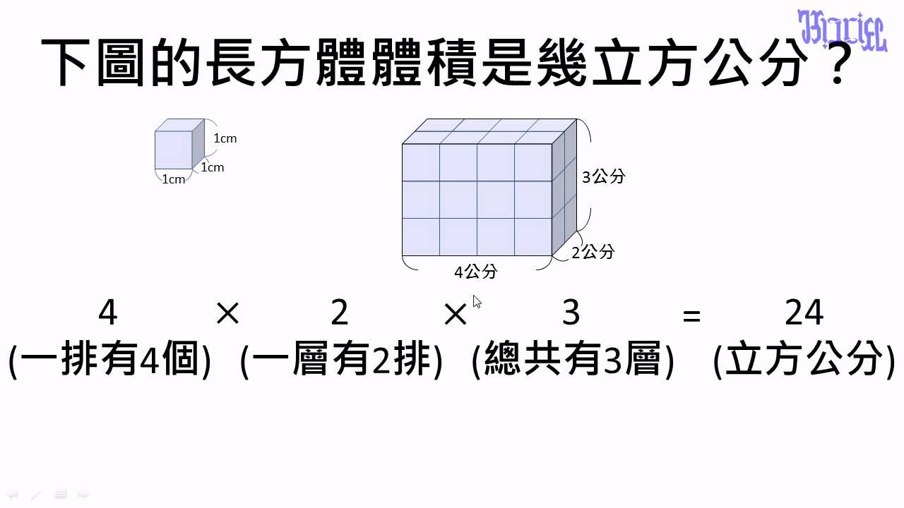 體積 - (02)正方體和長方體體積計算公式 - YouTube