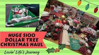 HUGE $100 Dollar Tree Shop with Me & Christmas Haul