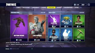 LOVE RANGER & BOTTOM FEEDER; Featured Item Shop Update in FORTNITE #11/4/18