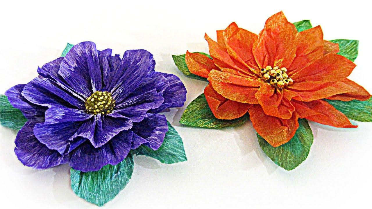 C mo hacer flores de papel how to make paper flowers - Como hacer flores ...