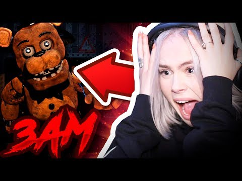 DO NOT PLAY FNAF AT 3AM - FIRST TIME PLAYING Five Nights At Freddy's.. (SHE REGRETS IT NOW)