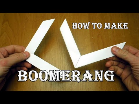 How to make a paper boomerang  Origami. Really returns