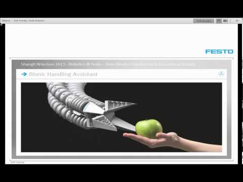 ShanghAI Lectures 2013 - Robotics at Festo - From Bionics to Industrial  Educational Robots