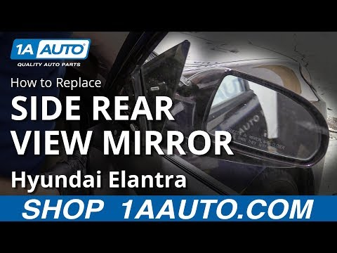 How to Replace Side Rear View Mirror 07-10 Hyundai Elantra