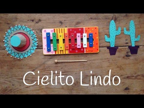 Canciones con xilófono para niños, ¡transportaros a México tocando Cielito Lindo!