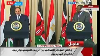السيسي: نؤمن بالتعاون الاقتصادي بين مصر وكينيا لتحقيق أهدافنا