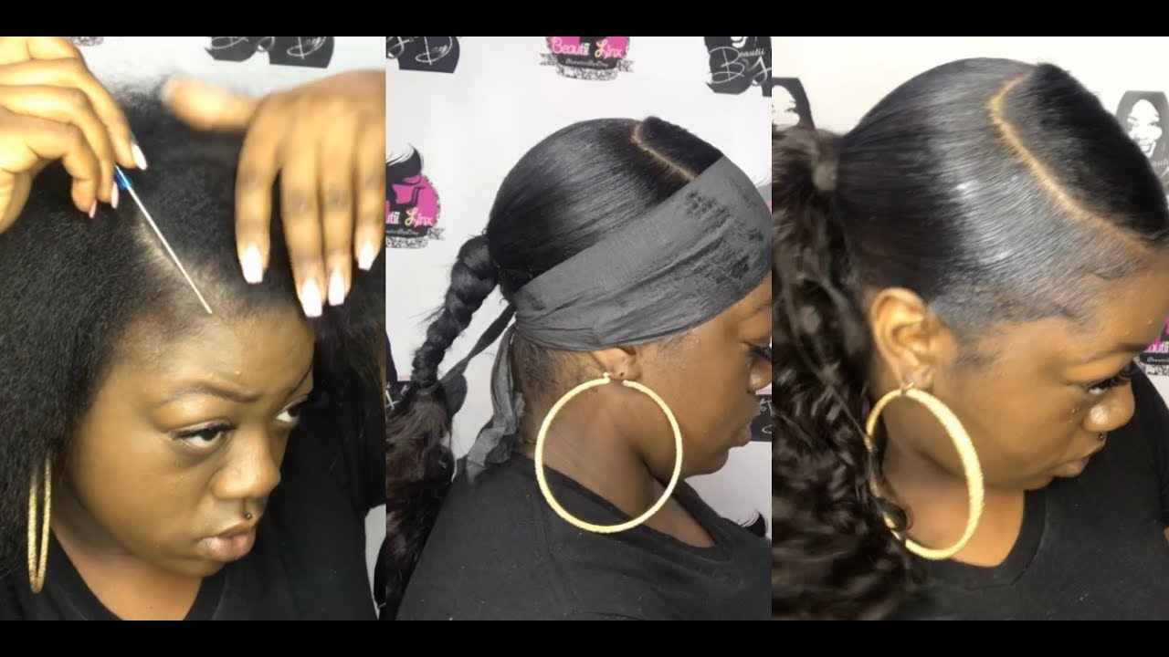 Invisible Ponytail With Swoop Youtube
