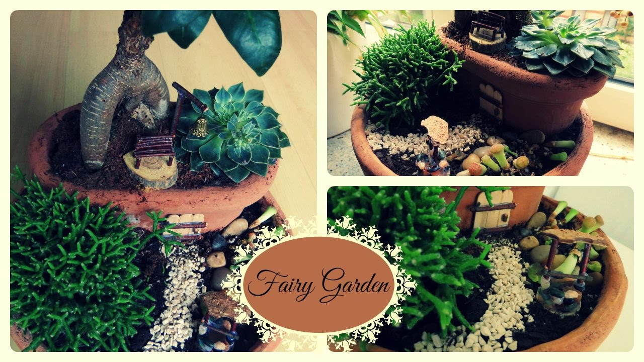 fairy garden 2 diy minigarten im topf youtube. Black Bedroom Furniture Sets. Home Design Ideas