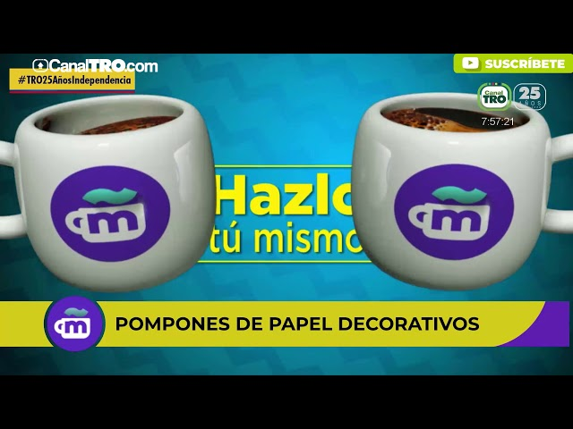 Pompones de papel decorativos