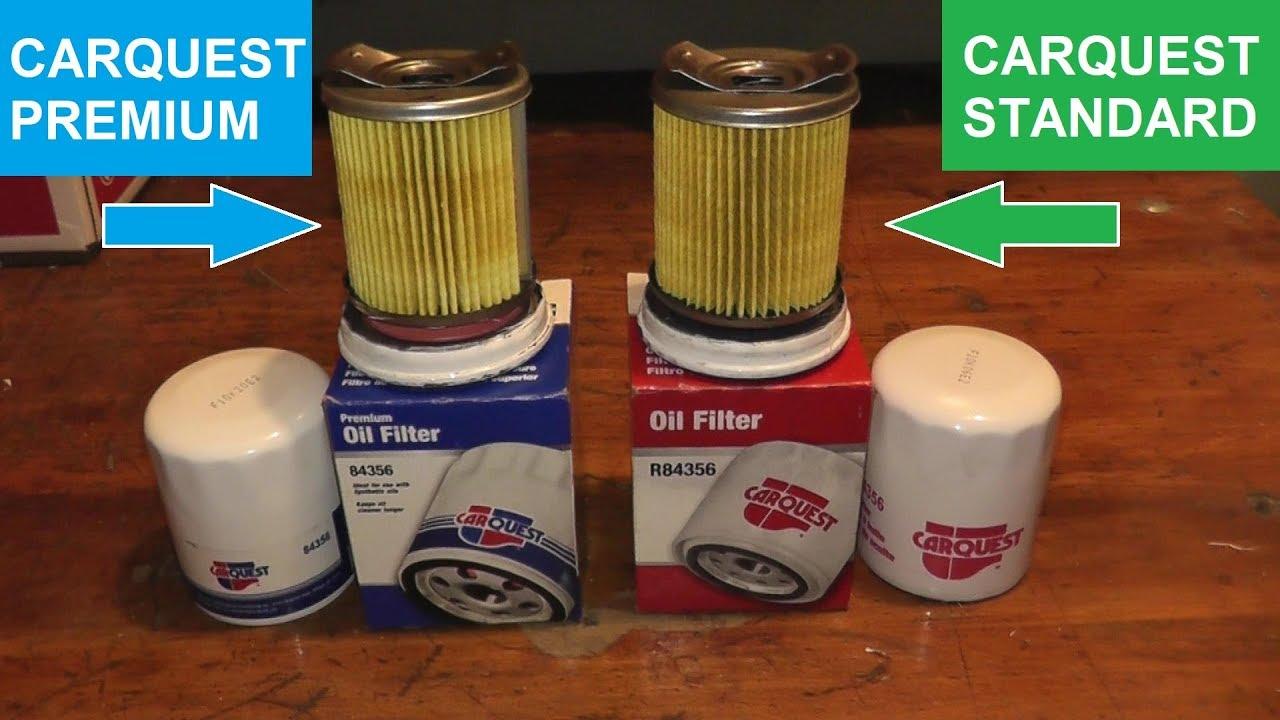 Carquest Standard Oil Filter Vs Carquest Premium Oil Filter Youtube