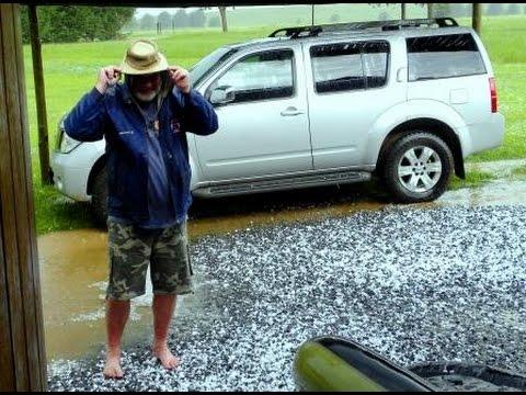 Lifton Lake hail storm