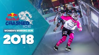 Who won Red Bull Crashed Ice 2018 France - Women's Winning Run.