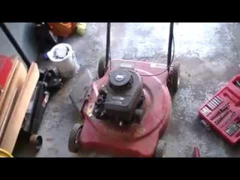 valve job on briggs and stratton mower